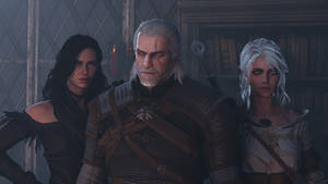 Yennefer, Geralt, and Ciri by ShittyHorsey