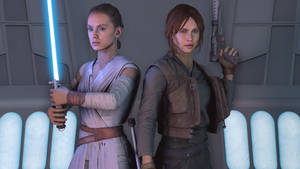 Rey and Jyn