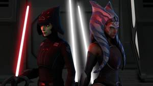 Star Wars FA Ahsoka Tano and Seventh Sister models