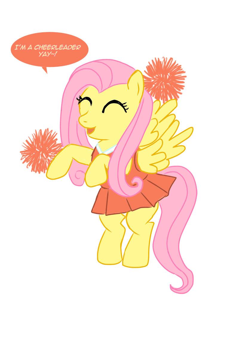 Fluttershy Cheerleader by allanah