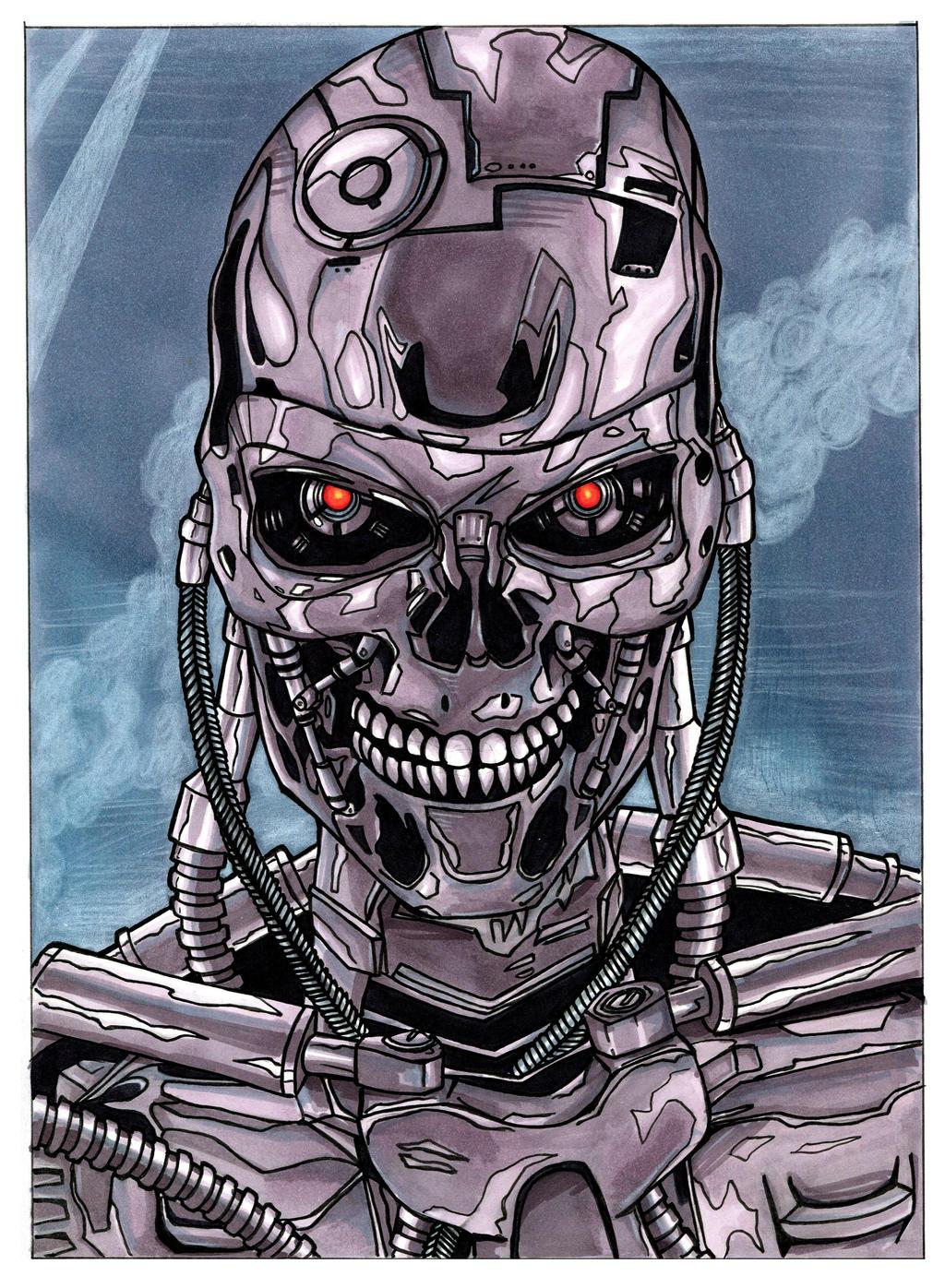 Terminator - T80...T 800 Terminator Skull
