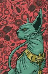 Lying Cat by colemunrochitty