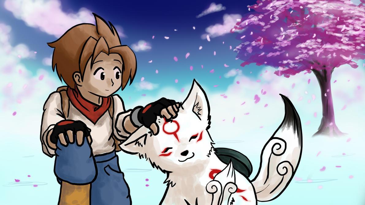 Izak's Harvest Moon x Okami by X0DA