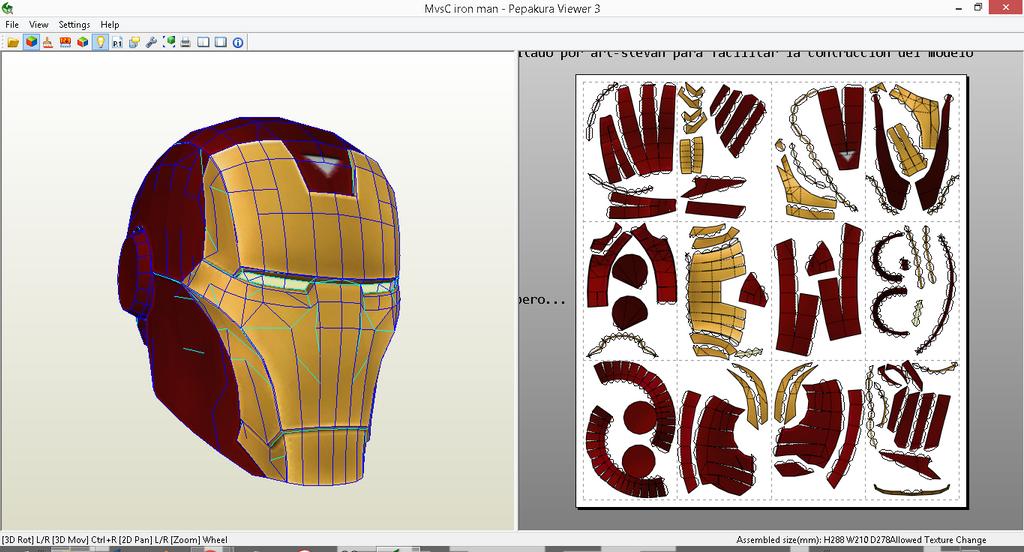 Marvel Vs Capcom 3-iron man helmet papercraft PDO by ART ...