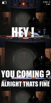 HEY YOU COMING? Old Foxy meme