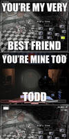 You're my best friend  Mangle and Old Foxy meme