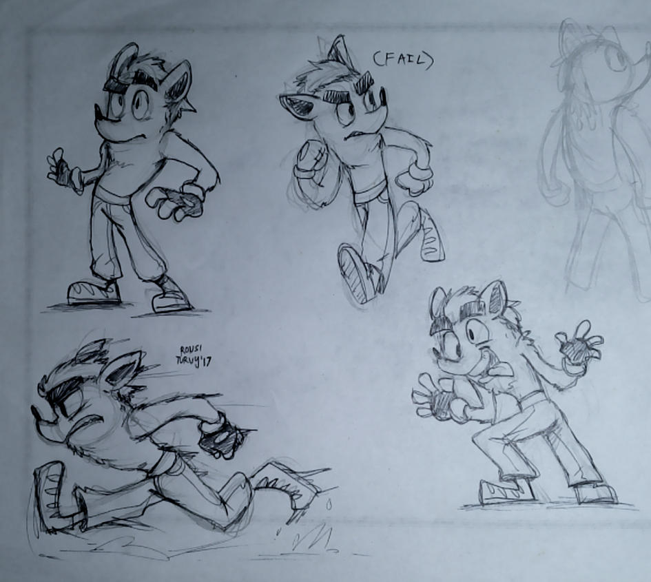 CB   some sketches of this bandicoot by RonsiTurvy