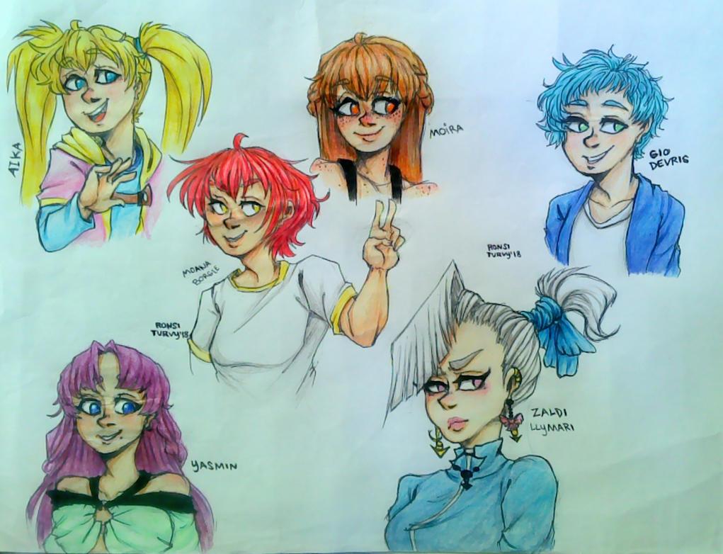 Buncha OCs I drew! by RonsiTurvy