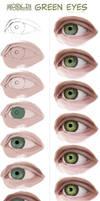 wip - green eyes