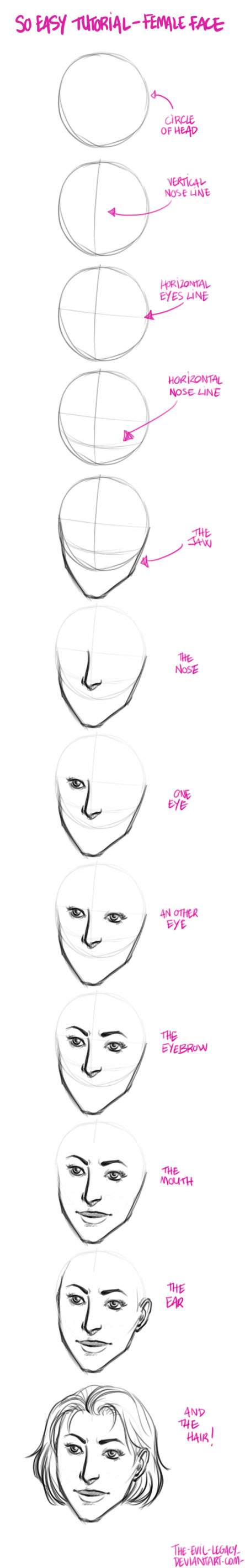 tuto - How to draw female by the-evil-legacy