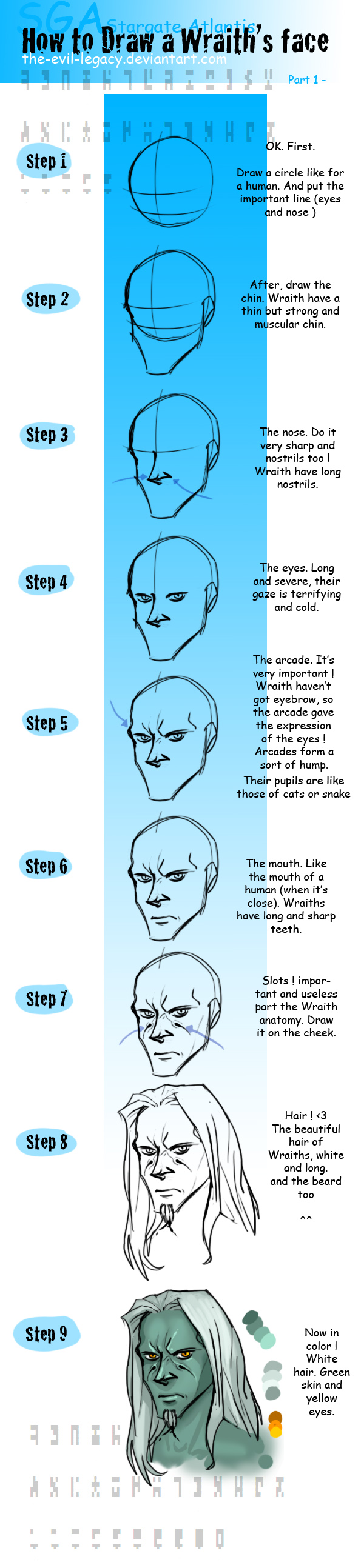 SGA - tuto male wraith part 1 by the-evil-legacy