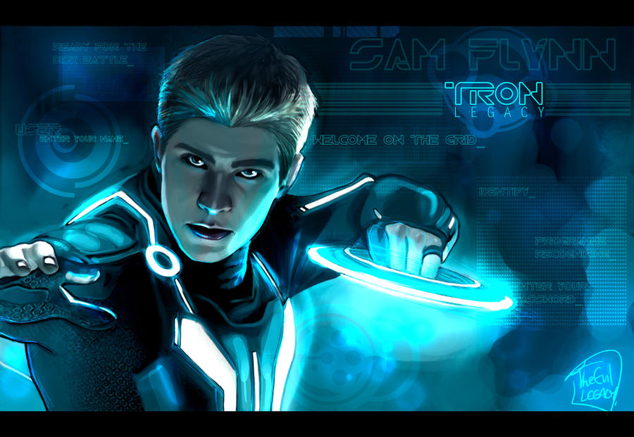 TRON - Sam Flynn by the-evil-legacy