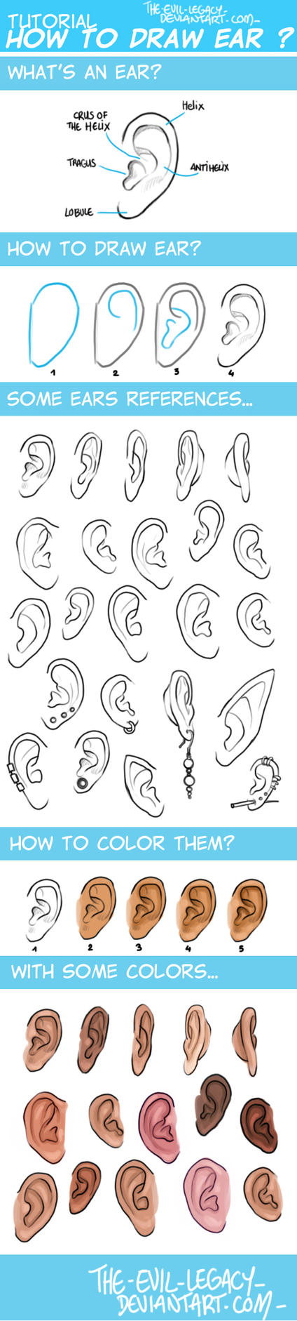 TUTO - How to draw ears? by the-evil-legacy