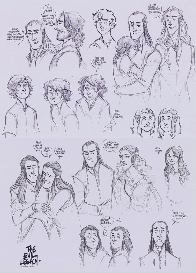 LOTR - Imladris Family by the-evil-legacy