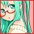 glasses Miku icon 50x50 by NyAppyMiku22