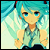 Light Blue Miku icon 50x50 by NyAppyMiku22