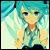Light Blue Miku icon 50x50 by NyAppyMiku22