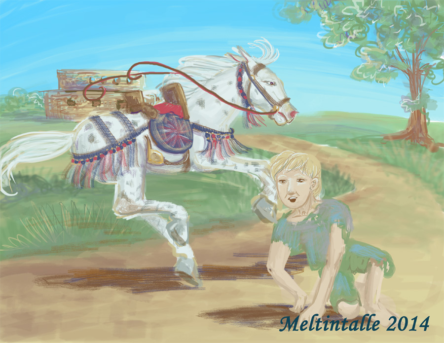 Race to the Hermit by Meltintalle
