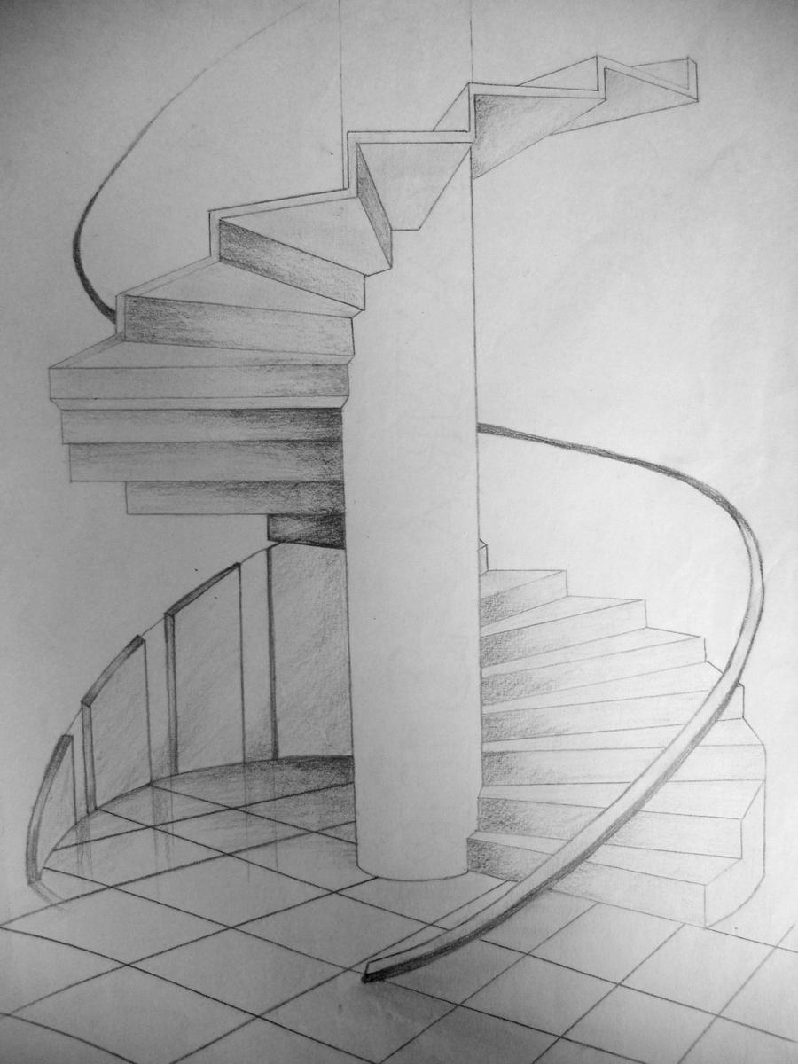 Spiral Staircase Drawing Spiral Staircase Share On