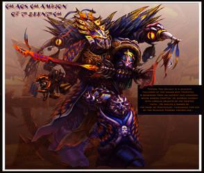 Chaos Champion of Tzeentch by jubjubjedi