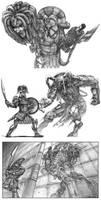 Greek Heroes and Monsters by jubjubjedi