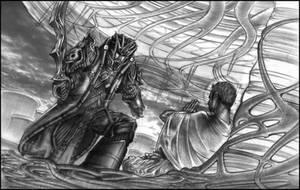 Yama confronts the 'Buddha' by jubjubjedi