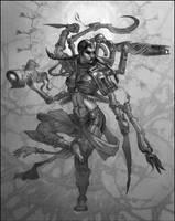 Zelazny's Lord of Light -Kali by jubjubjedi