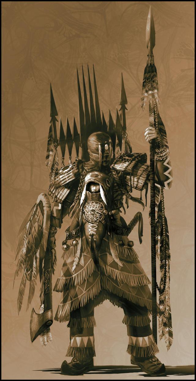 Indian Warrior-Mystic by jubjubjedi