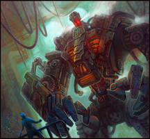 Steampunk Robot by jubjubjedi