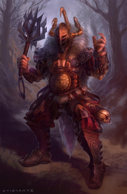 Barbarian Warrior by jubjubjedi
