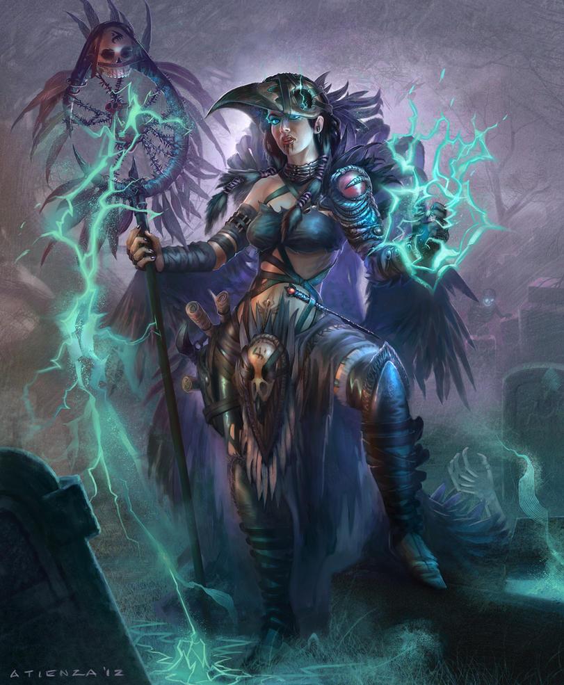 Female Necromancer by jubjubjedi