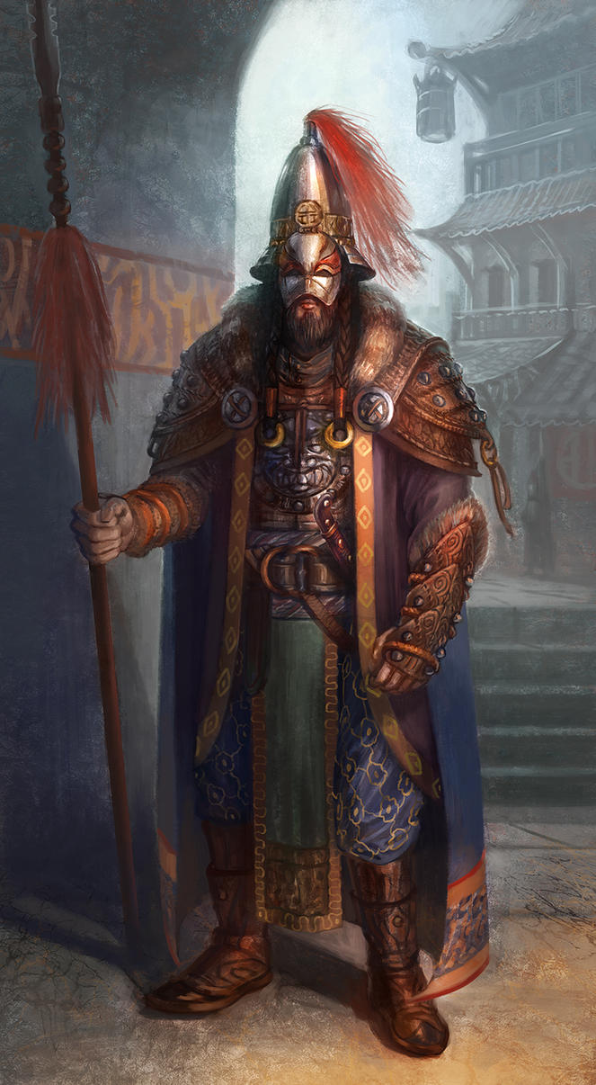 Asian-inspired Warrior by jubjubjedi