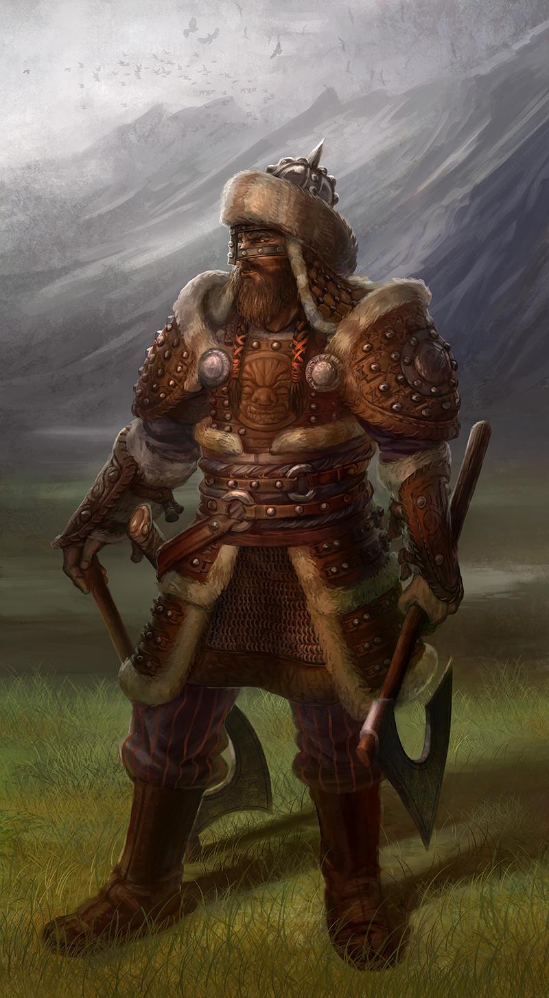 Asian-inspired Warrior 2 by jubjubjedi