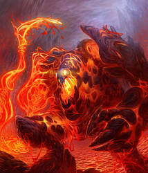 Lava Monster (Cherufe) by jubjubjedi