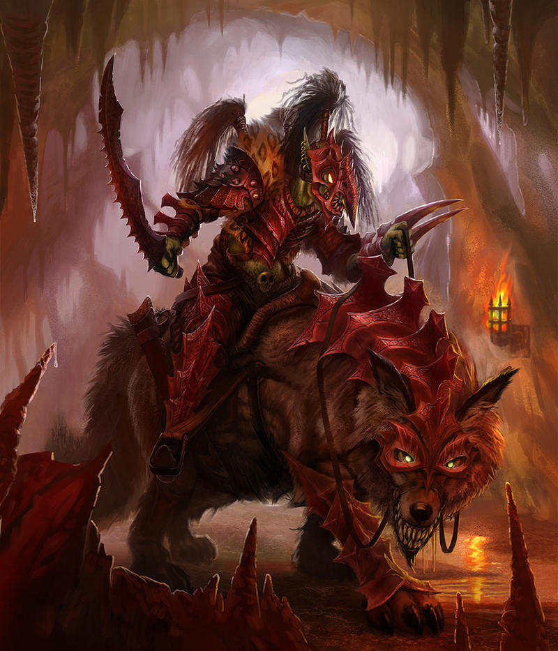 Hobgoblin Wolf Rider by jubjubjedi