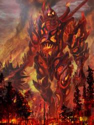 Lava Monster (Level 4) by jubjubjedi
