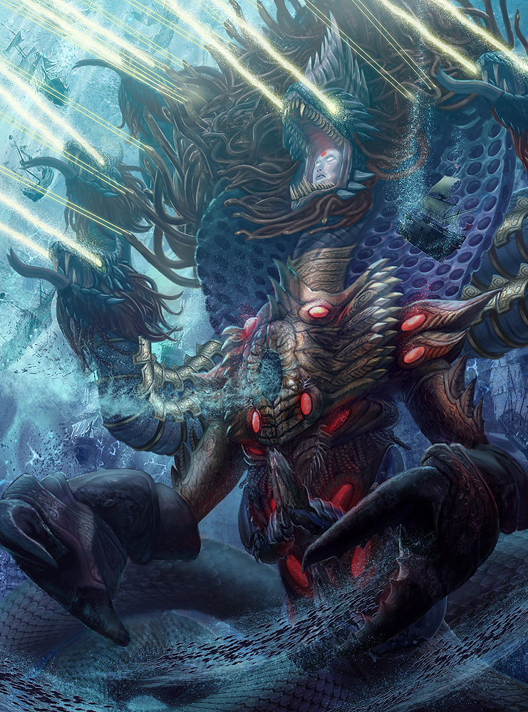 Sea Serpent (Ananta) Level 4 by jubjubjedi