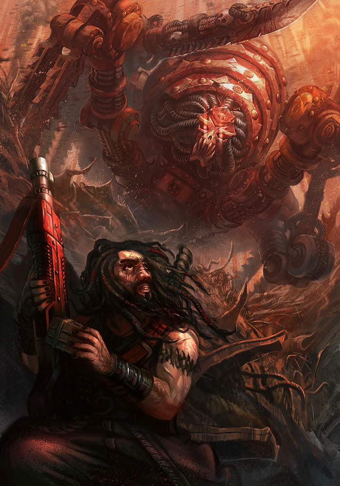Blood Slaughterer - Warhammer 40K:Tome of Blood by jubjubjedi