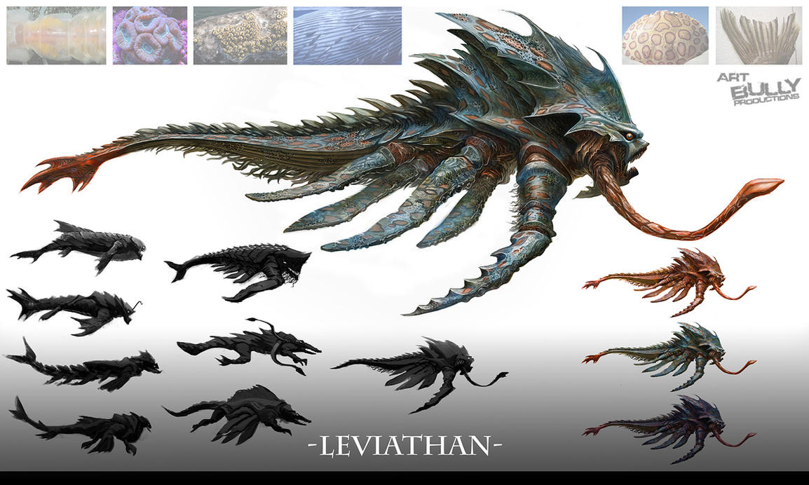 the mythical creatures behemoth and leviathan Mythological creatures come in any shape and size, their appearance  the  behemoth and the leviathan are mentioned in the book of job and.