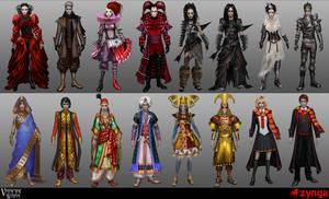 Vampire Wars costume designs