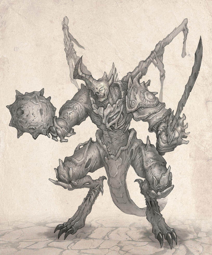 Demon concept by jubjubjedi