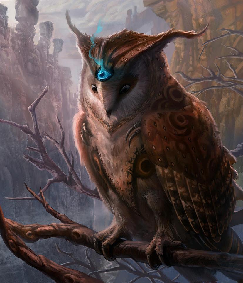 Mystical Owl by jubjubjedi