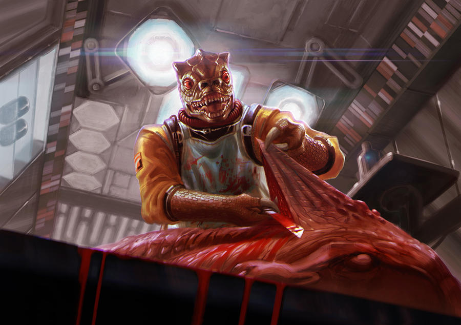 Bossk - Hound's Tooth expansion - Star Wars:X-Wing by jubjubjedi
