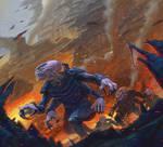 Invasive Genestealers -Warhammer 40,000: Conquest by jubjubjedi