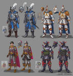 Dungeons and Dragons figure designs (updated)