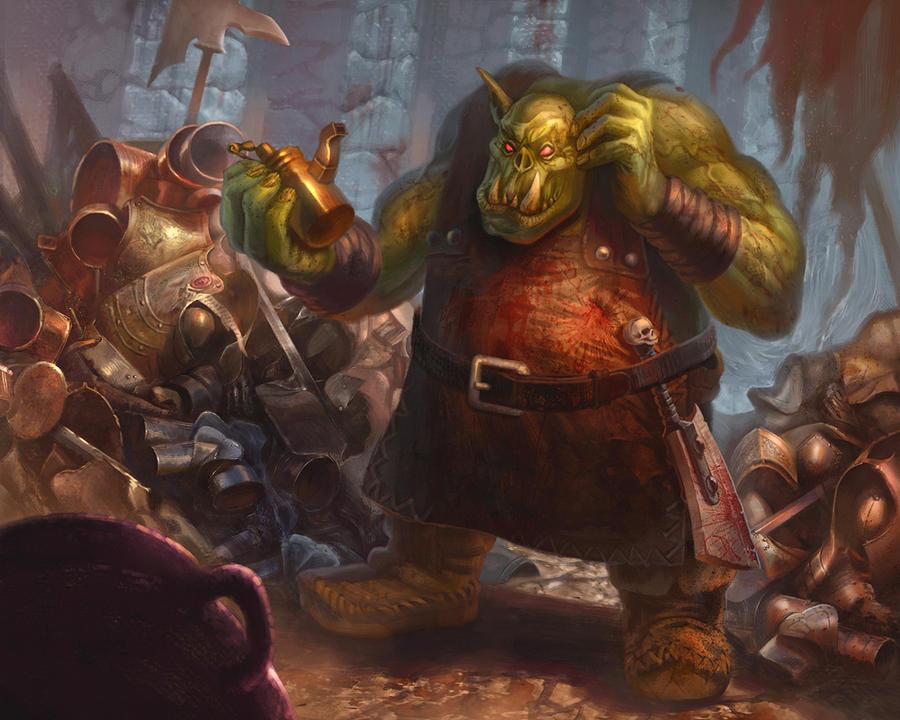 Quaaargghter Master -Warhammer Quest:The Card Game by jubjubjedi