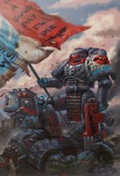 Emperor's Shadows - Warhammer 40,000 Fan Art by jubjubjedi
