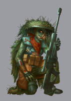 Kyuzo Sharpshooter - Star Wars: Age of Rebellion by jubjubjedi