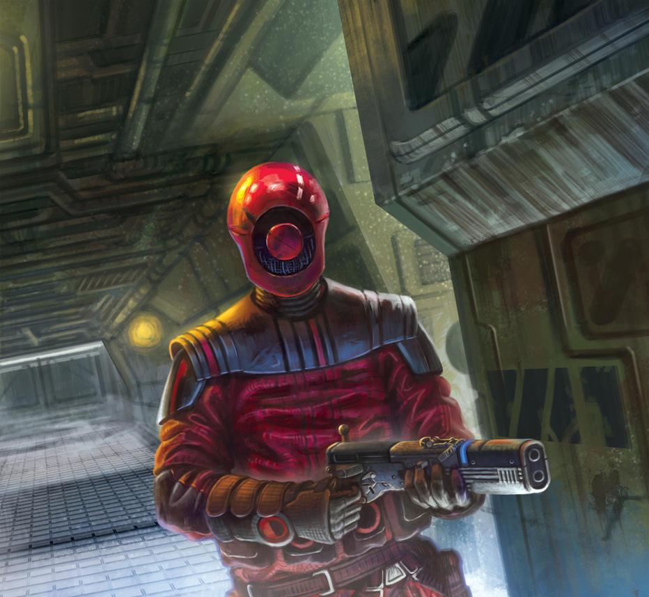 Guavian Enforcer - Star Wars: Destiny booster pack by jubjubjedi