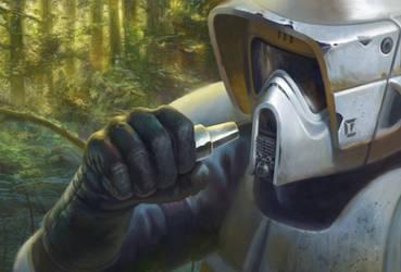 Biker Scout Long-Range Comlink - Star Wars: Legion by jubjubjedi